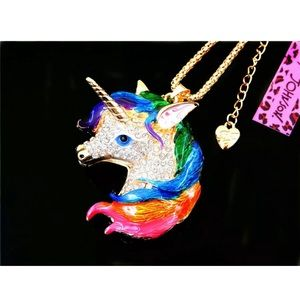 Betsey Johnson unicorn necklace ➰🆕🌿🆕➰